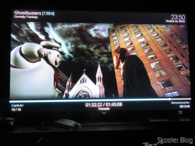 """Ghostbusters"" em 4K HDR no Minix NEO U9-H."