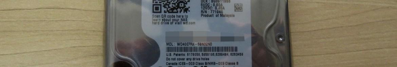 2º HDD Western Digital 3.5″ Red WD40EFRX 4TB 5400RPM 64M SATA3 NAS Desktop HDD, em sua embalagem.