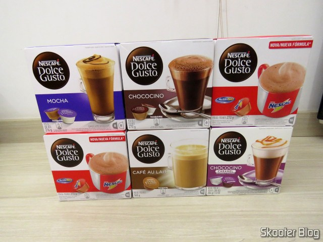 Nescafe Dolce Gusto - 3th Consignment: 2x chocolate milk, Mocha, Chococino, Cafe Au Lait, Chococino Caramel