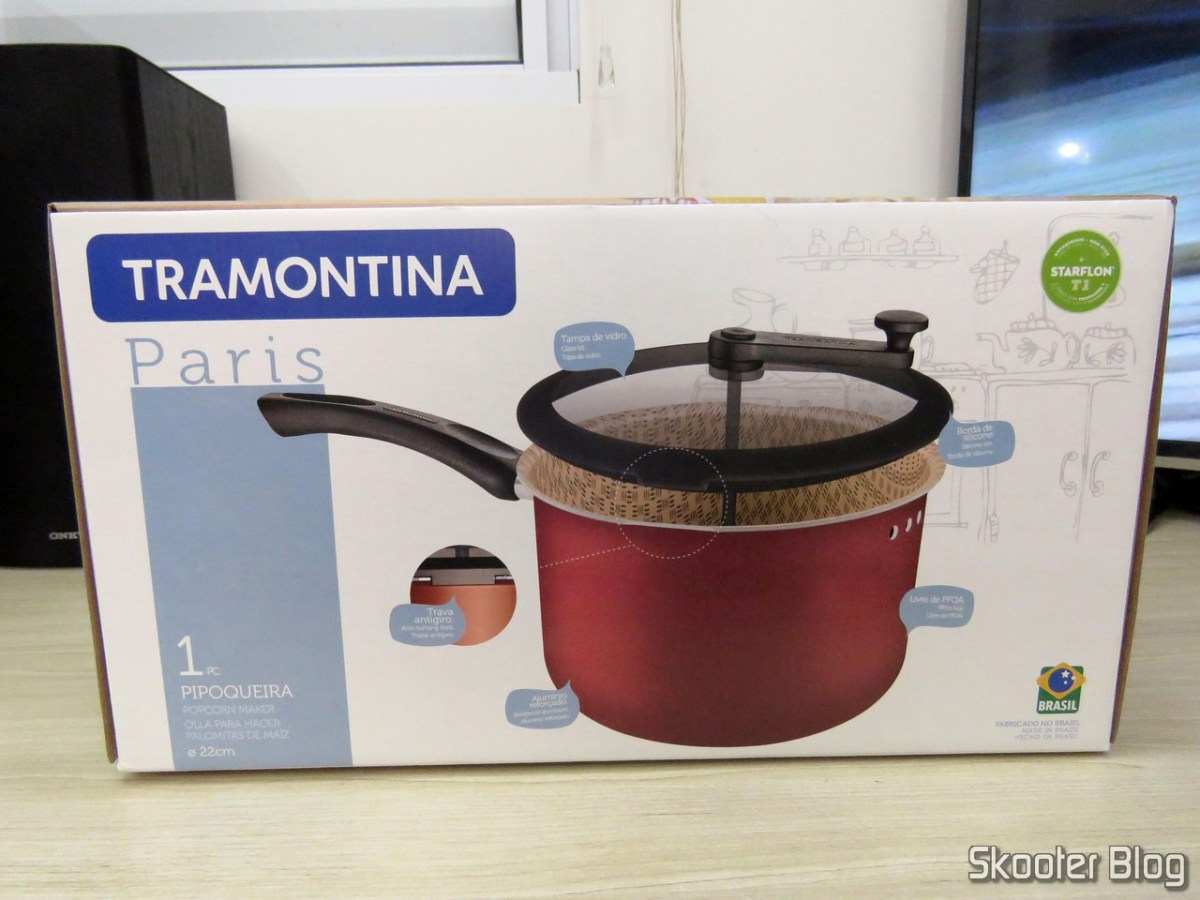[Review] Non-stick aluminum popcorn Popper with 22 cm Paris Tramontina - Livelo / Fast Shop