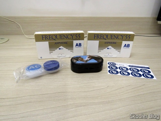 Aspheric contact lenses Coopervision Frequency 55 Aspheric + Contact lens case.