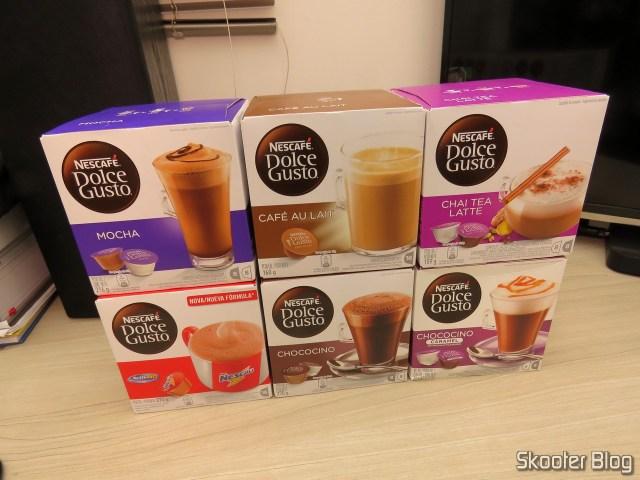 Nescafé Dolce Gusto - 4ª Remessa: Chai Tea Latte, Nescau, Mocha, Chococino, Café Au Lait, Chococino Caramel