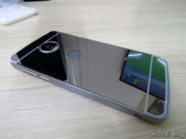 Capa-Bumper de Luxo Metálica Espelhada para Motorola Moto Z Play