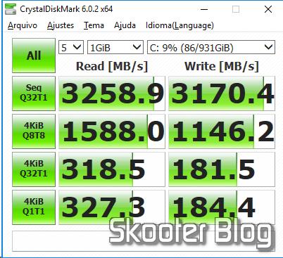 Samsung 860 EVO 1 TB 2.5 Inch SATA III Internal SSD (MZ-76E1T0B/AM) the CrystalDiskMark.