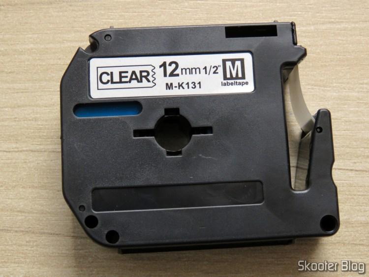 Fita para Rotulador Brother Transparente 12mm M-K131.