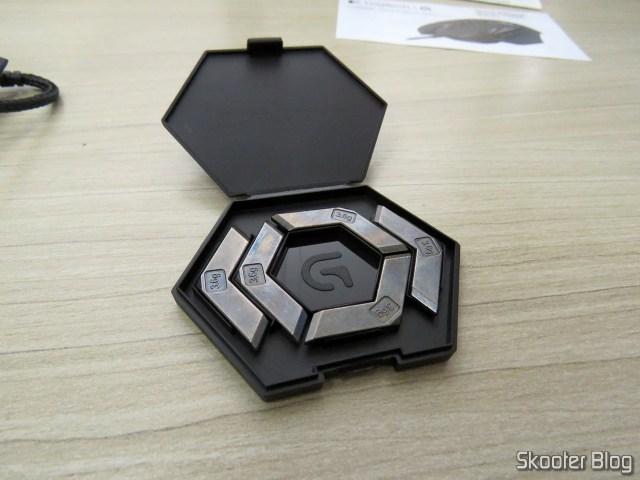 Pesos do Mouse Gamer G502 Proteus Spectrum 12.000 DPI - Logitech G.