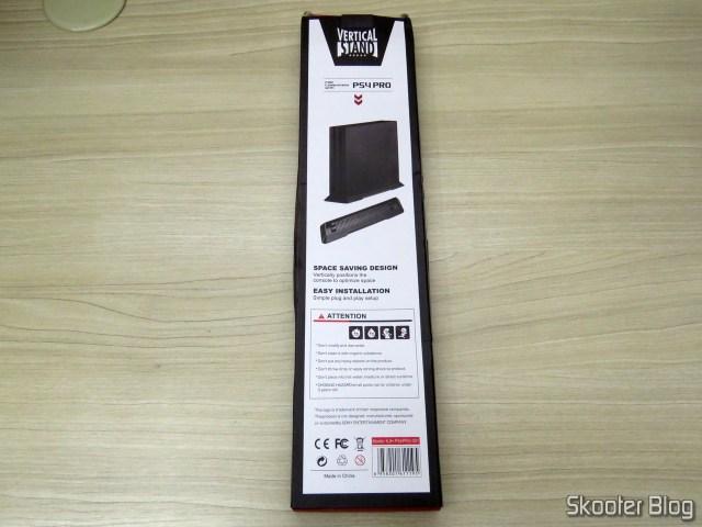 Suporte de Montagem Vertical para Playstation 4 Pro (stand), em sua embalagem.