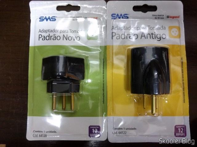 Adaptadores de Tomada SMS Padrão Novo e Padrão Antigo