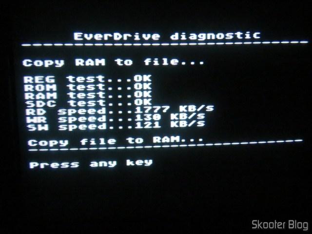 Master Everdrive X7 Deluxe, em funcionamento.