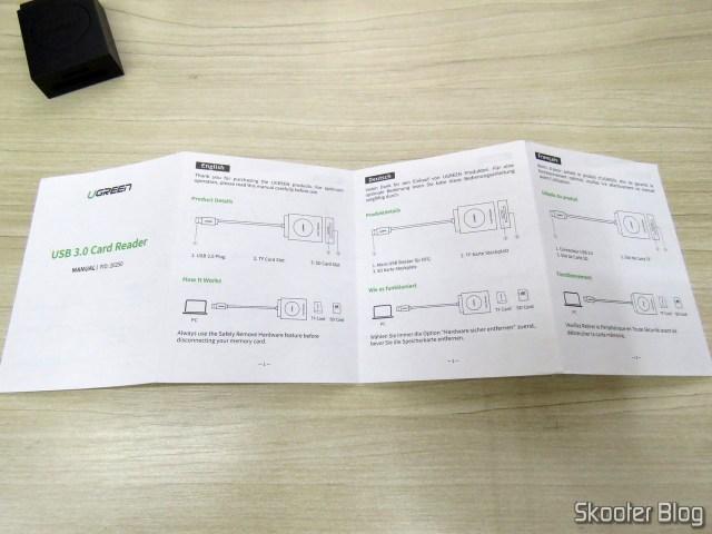 Manual de Instruções do Leitor de Cartões SD e microSD Ugreen USB 3.0.