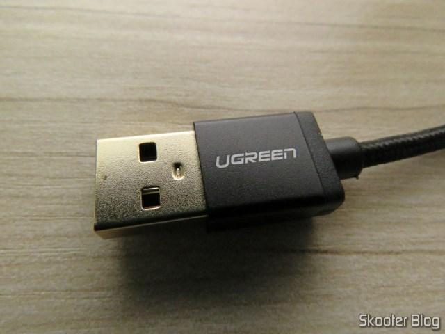 Plug USB-A do Cabo USB Tipo C para Carga e Dados Ugreen 25cm.