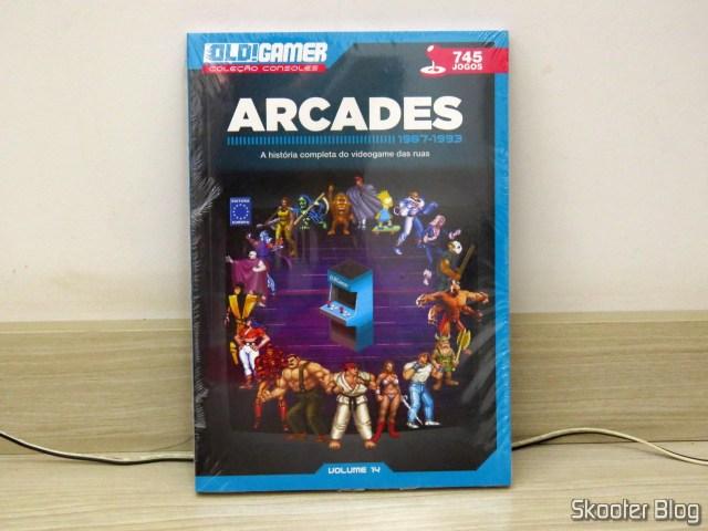 Dossiê Old!Gamer: Arcades - Parte 2 - Volume 14, em sua embalagem.