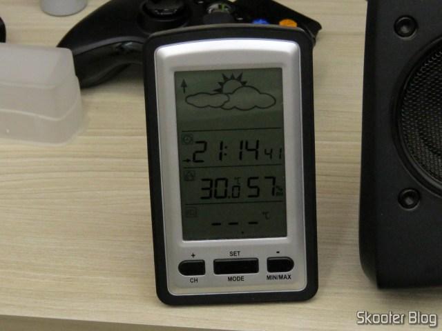 Temperatura ambiente, antes da instalação dos ventiladores.
