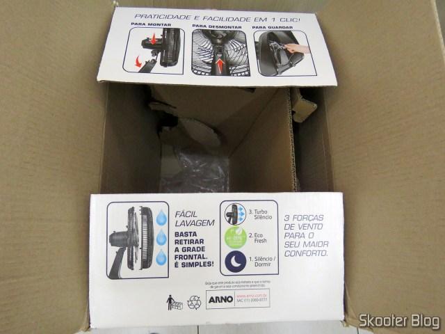 Embalagem do Ventilador Arno VF40 Silence Force 40cm.