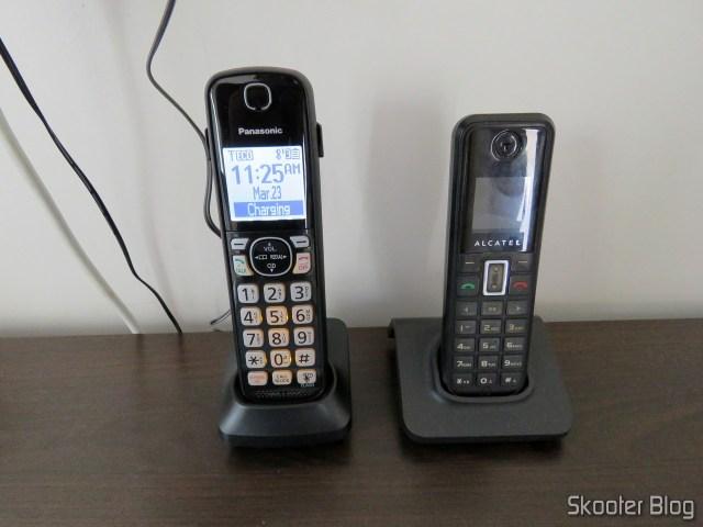 Ramal do Sistema de Telefones Sem Fio Panasonic KX-TGF574S, em funcionamento.