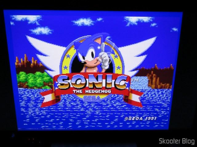 Mega Drive conectado ao OSSC.