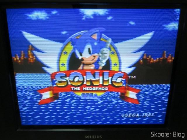 Sega Genesis image, installed in CRT TV, via vídeo compound.