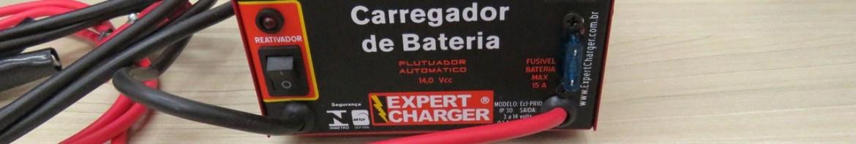Carregador de Baterias 12V Expert Charger PR10, e voltímetro de brinde.