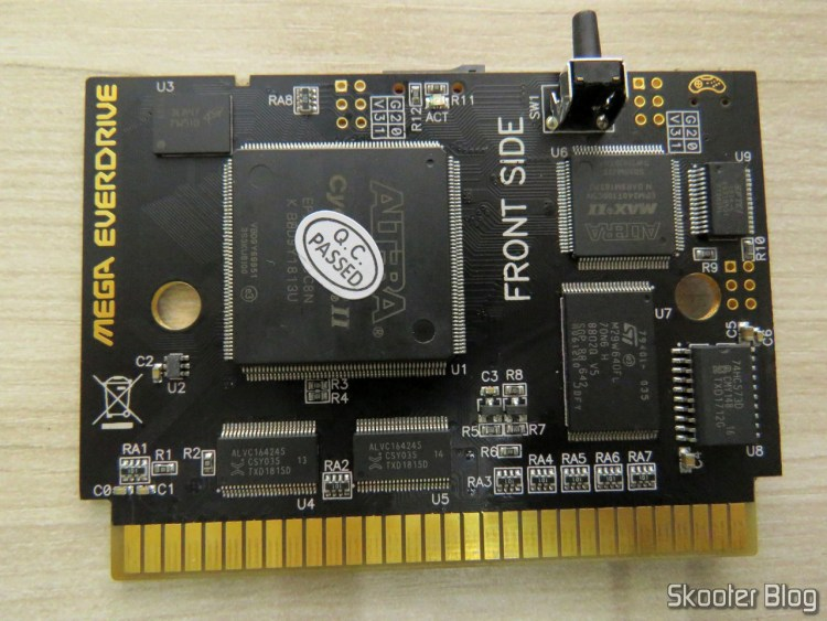 Placa do Mega Everdrive X7.