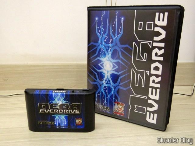 Mega Everdrive X7 com a nova placa já instalada.