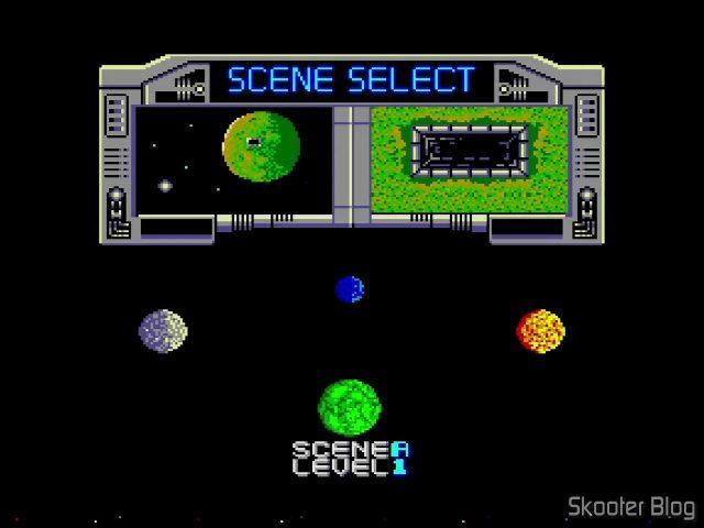 Seleção de Nível no Galaxy Force- Master System.