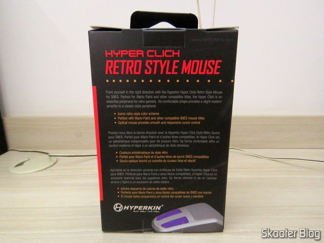 Optical Mouse for Super Nintendo Hyperkin Retro Style Mouse Click, on its packaging.