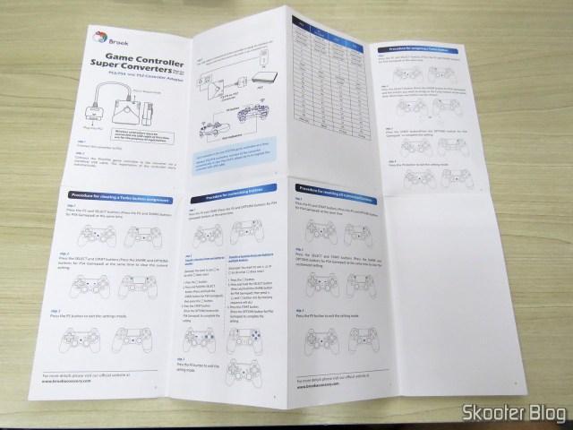 Manual de Instruções do Adaptador de Controle Playstation PS3/PS4 para PS2/PS1/PC Brook Game Controller Super Converters Magic Box P2-BL.