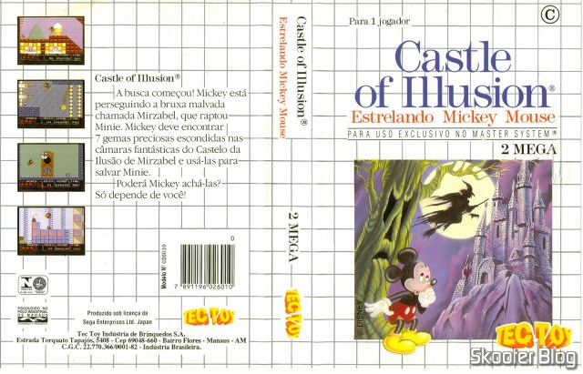 Capa da Tec Toy para o Castle of Illusion.
