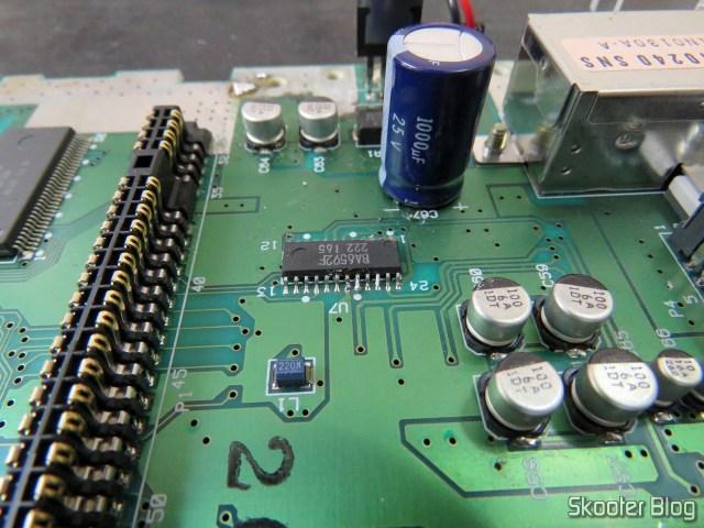 Chip encoder com a perninha soldada na placa novamente.