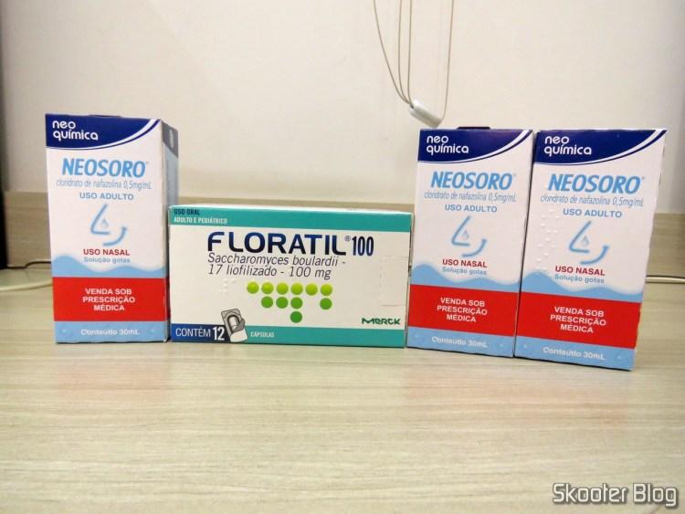 Floratil 100 com 12 cápsulas e 3x Neosoro Adulto com 300ml.