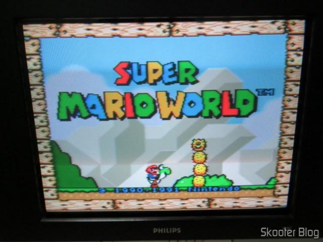 Super Nintendo Original NTSC PCB SHVC-CPU-01 CPU/PPU1/PPU2 2/1/3, na TV CRT.