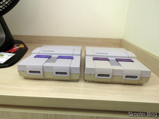 Super Nintendo 1/1/1 next to the 2/1/3.