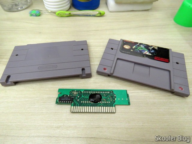 The Cartucho wasaki not perbike Challenge, the Super Nintendo, after cleaning.