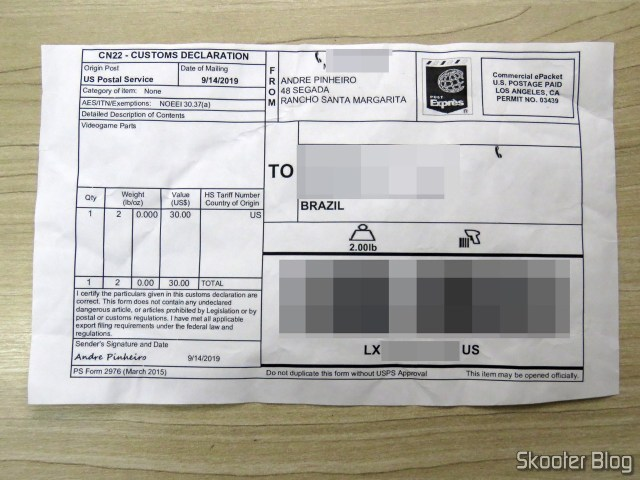 Customs form the second package, with the drivers and the source of the Super Nintendo.