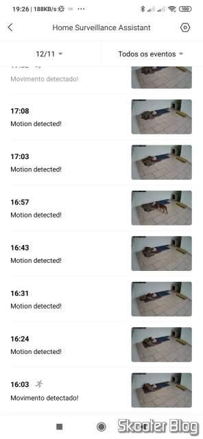 Mi Home visualizando a Xiaomi Mi Home Security Camera 360º.Xiaomi Mi Home Security Camera 360º.