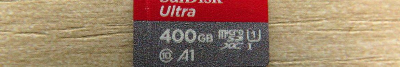 Cartão microSDXC Sandisk Ultra 400GB.