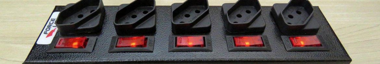 Filtro de Linha com Disjuntores Rearmáveis Individuais Force Line.