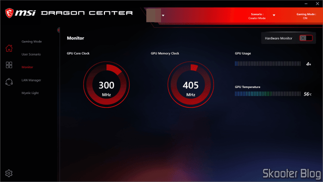 MSI Dragon Center - Monitor.
