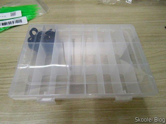 Caixa Organizadora Multiuso, em uso.