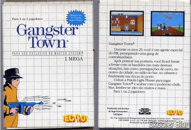 Capa da Tec Toy para o Gangster Town – Master System.