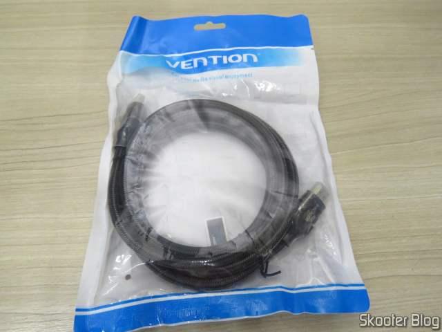 10º Cabo HDMI 2.0 4K 3D 60Hz Vention de 2 metros, em sua embalagem.