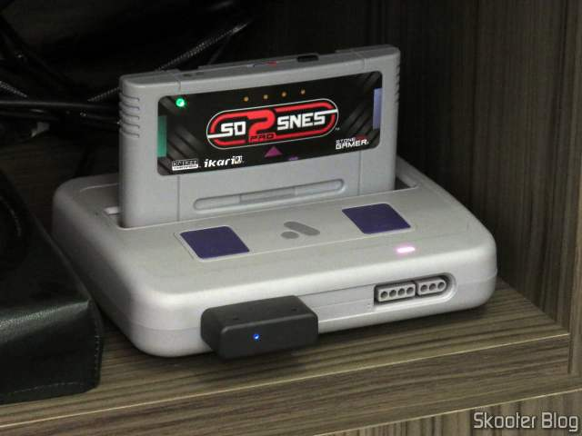 8BitDo SN30 2.4G Wireless Controller Receiver for Super Nintendo (SNES) Original, operating in Super Analogue Nt.