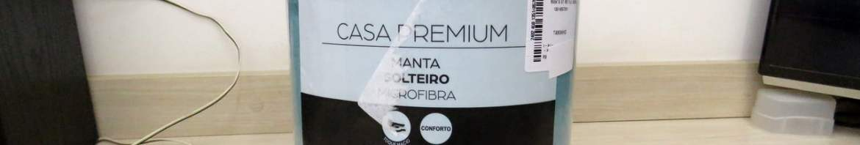 Manta Fleece Solteiro - Azul.