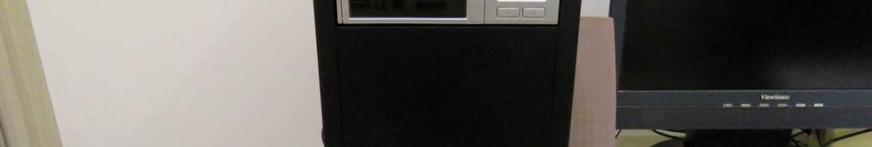 Gabinete Corsair Mid-Tower Carbide Series 100R CC-9011075-WW, após a montagem, fechado e em funcionamento.