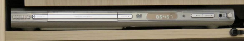 DVD Player Philips DVP642K/78, em funcionamento após o reparo.