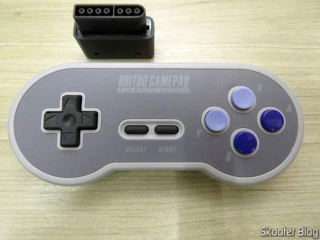 2º 8BitDo SN30 2.4G Wireless Controller for Super Nintendo (SNES) Original, and your receiver.