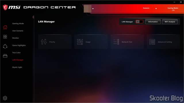 MSI Dragon Center - Lan Manager.