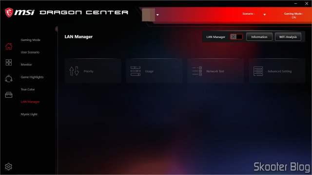 MSI Dragon Center - Lan Manager.