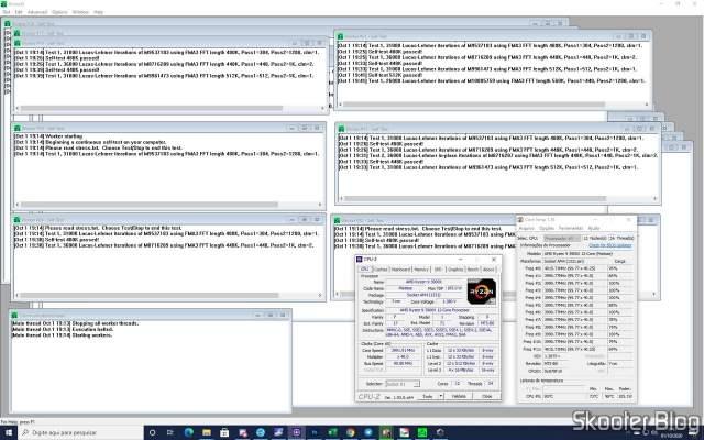 Testando os módulos de memória com o Prime95.
