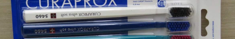 Escova Dental Adulto Curaprox CS 5460 Ultra Soft Sensitive Trio Colorida c/ 3 Unidades.